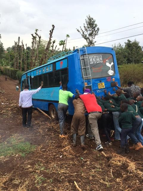 bus stuck in kenya